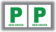 2 x New Driver P Plate Stickers Safety Car Learner Just Passed Vinyl Legal Signs