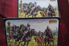 2xNorman Cavalry Normannen Kavallerie Ritter Strelets 0012 1:72 Figuren Sammlung