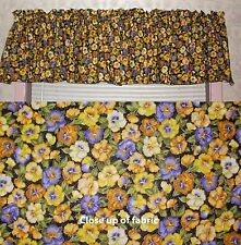 New Pansy Panies Flowers Valances Curtain Window Cover