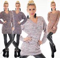 Suéter de Mujer Vestido Punto Jersey Larga Sudadera Extra Grande