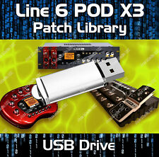 LINE 6 POD X3 LIVE PRO PRE-PROGRAMMED TONE PATCHES USB - OVER 7500 EFFECTS!