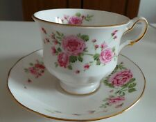 "Vintage Avon Tea Cup and Saucer ""Pink Roses"" English Bone China 1974"