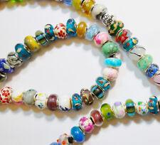 20 European Perlen Glas 14mm Großloch Armband Halskette Schmuck BEST R37