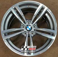 """R348DFG Exchange BMW M2 M3 M4 4x 19"""" GENUINE STYLE 437M FERRIC GREY ALLOY WHEELS"""