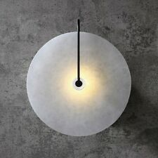 Modern Oval White Marble Shade Wall Light 5W LED Indoor Sconces Black Metal 110V