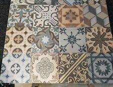 TILES JOBLOT 98:Bright & colourful Spanish vintage non-slip porcelain tiles 12m2