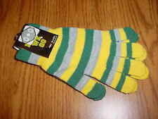 HERE WE GO FLEECE  TWO TONED~Green & Gold ~ GLOVES~ GREEN BAY PACKERS COLORS  OO
