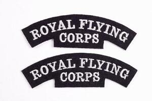 1 X PAIR WW1 RFC PILOTS ROYAL FLYING CORPS SHOULDER CLOTH PATCH FLASH INSIGNIA