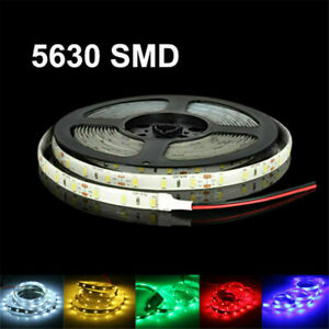 12V 16ft 1-5M 5630 waterproof 300 LED Light Strip Flexible Ribbon 3M Tape lamp