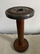 Antique large industrial mercantile wood & metal sewing spool bobbin