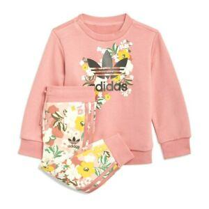 Tuta Bambina Adidas HER Studio London Floral Crew Completo Leggins Felpa Bimba