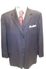 Mens HICKEY FREEMAN blue 3 button double vent sport coat sz 50R