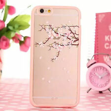 Pink Transparent Cute Animal Cherry Pattern Case for iPhone 5 5s 6 6s 7 Plus for Samsung Galaxy A5 Cat