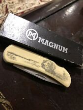 Magnum Lockblade Knife Model KE073  Beautiful Dog Picture Handle