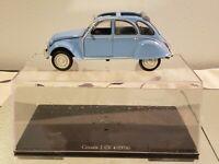 Leo Models Blue Citroen 2 CV 4 1976 1:24 Diecast Car