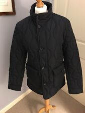 HAMMOND &Co BY PATRICK GRANT MENS NAVY SHOWER RESISTANT QUILTED JACKET SIZE MED
