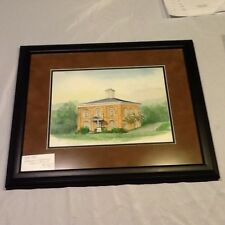 """""""Old Jail"""" by Lorraine Brewer Watercolor Framed & Matted 18.5"""" X 21.5"""""""
