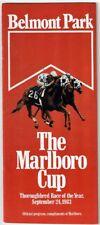 SECRETARIAT, SLEW O' GOLD - 1983 BELMONT PARK MARLBORO CUP HORSE RACING PROGRAM!