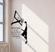 Stephen Curry Wall Decal Success Quote Vinyl Sticker Basketball Poster Decor 601