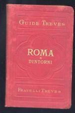 Guide Treves,Roma e dintorni,Fratelli Treves 1883  le piante di Roma e dintorni