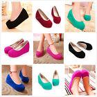 Womens Pump Wedge Mid Heels Platform Loafers Lolita Low Top Korean Casual Shoes