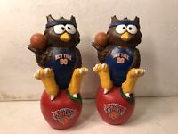 (2) New York Knicks Thematic Owl NBA Garden Statues by Forever Collectibles