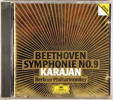 DGG 1984 CD W. GERMANY Beethoven KARAJAN Symphony #9 FULL SILVER 410 987-2