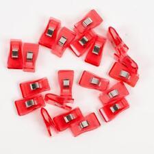 20 mittlere Stoffklammern - 3,3  x 1,8 cm - rot