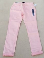 GAP Girls Peach 98% Cotton Blend High Waist Skinny Jeans 13 Years MRRP £22-99
