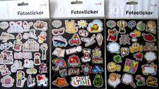 150 Stück Fotosticker Foto Sticker Familie Allgemein Urlaub Motive und Schrift**