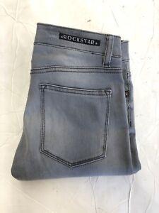 New ROCKSTAR womens Skinny Gray Biker Jeans Size: 25x31