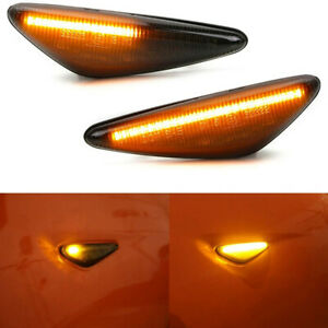 Smoke Lens Sequential Amber LED Fender Side Marker Light for 16-up Mazda MX-5 ND