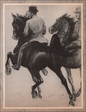 MONTE CHRISTO, JR. FIVE GAITED SADDLE HORSE by George Ford Morris, vintage 1952