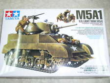 Tamiya 1/35 U.S. Light Tank M5A1 Hedgehog Pursuit Operation Set Model Kit #35313