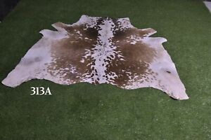 """New Cowhide Rugs Hair On COW HIDE Rugs Area Cow Skin Leather Rugs (50"""" x 52"""")"""