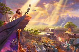 Lion King Roar Pride Rock Art Wall Indoor Room Outdoor Poster - POSTER 24x36