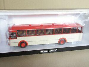 467E Rare MINICHAMPS Mercedes 0 317 K Bus 1966 Orange Beige 1:43 +Box