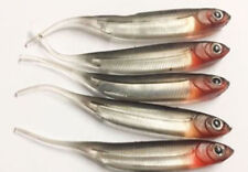 5 Silver Needle Red Head Tail Lures 8cm Drop Shot Jig Fishing Lure