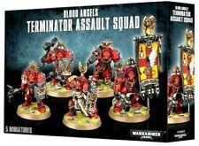 >> Blood Angels Terminator Assault Squad Space Marines Warhammer 40K Nib!