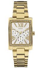 100 Authentic GUESS Ladies Haven Square Gold Stone Set Watch W0446L2