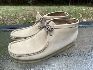 Clarks Originals WALLABEE Crepe Sole Men's Size 13 Suede Leather Moccasins Shoes