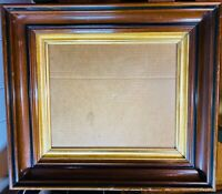 "Antique Victorian Carved Mahogany Wood Gilt Frame for 8.5"" x 11""Picture"