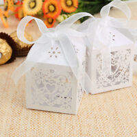 Luxury Laser Cut Sweets Heart Boxes Wedding Favor Candy Gifts Wrap Baby Shower