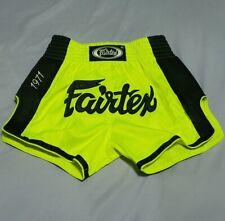 SHORTS FAIRTEX BS1706 MUAY THAI FIGHT MMA KICK BOXING BRIGHT GREEN ADULT S SATIN