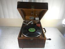 ATQ 1918 Victor Victrola VV-50 Talking Machine Portable Phonograph Record Player