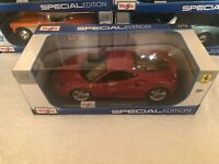 Maisto 1:18 Scale Special Edition Diecast Model Car - Ferrari 488 GTB (Red)