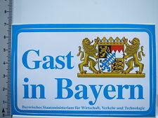 Aufkleber Sticker Bayern - Gast - Staatsministerium (5558)
