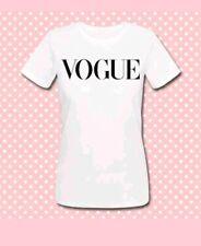 T-shirt donna Vogue inspired, rivista moda, fashion magazine, outfit, bianca!