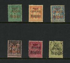T803 Madagascar 1895 OVERPRINTED SHORT-SET 6v. used/MH