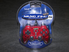 PS2 MANETTE NANO PAD MADRICS NON OFF SONY REF 20572 RED NEUVE ANALOG VIBRATION